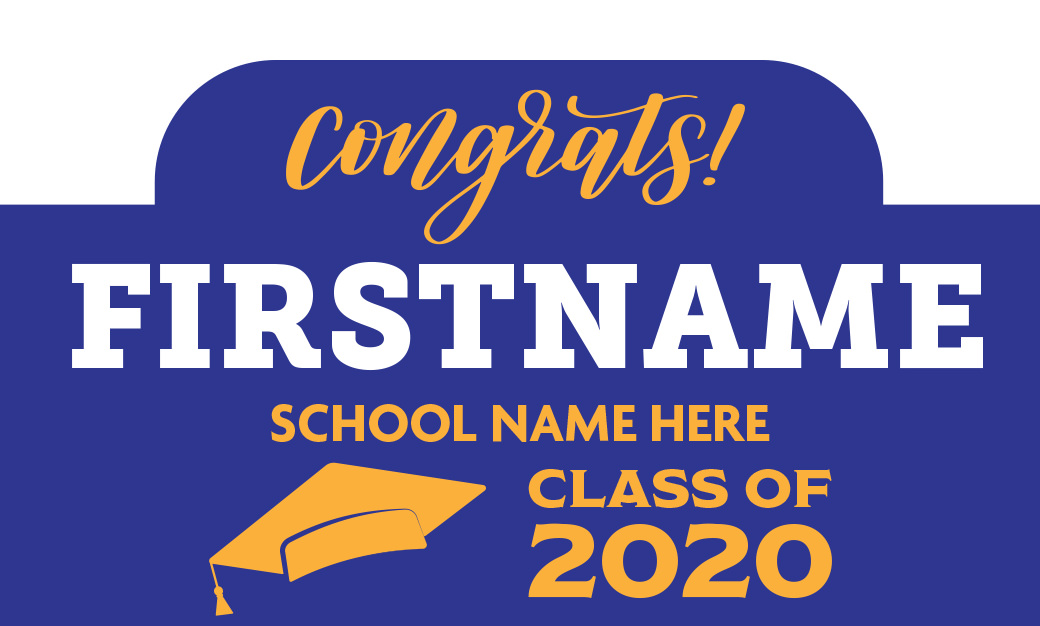 Graduate Sign with rounded cut out