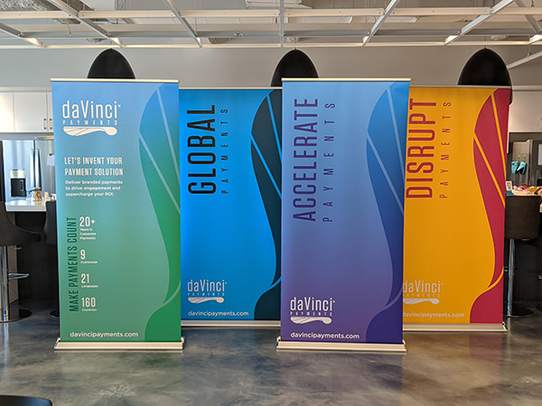 Davinci Pop Up Banners