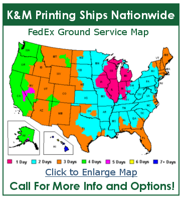 K&M Printing Nationwide Shipping Module
